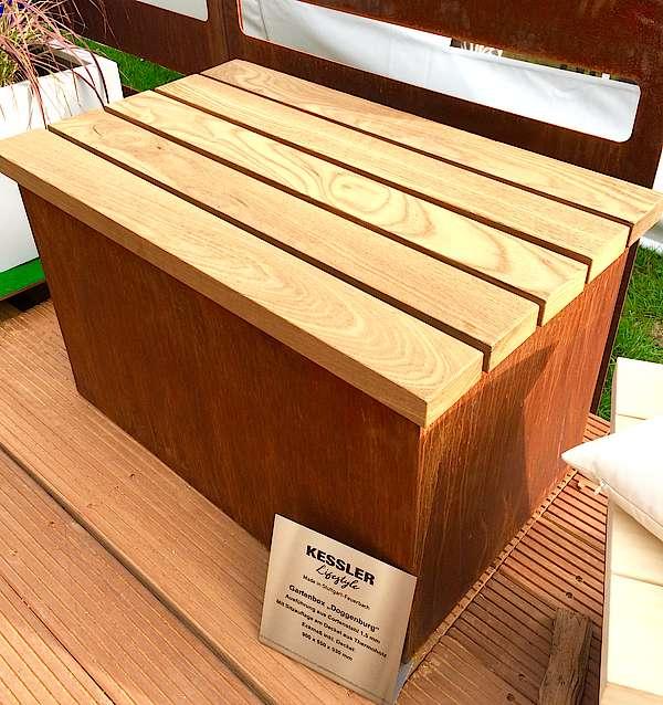 Gartenschränke Und Aufbewahrungsboxen Aus Cortenstahl