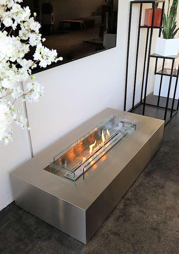 Bioethanol Loungetisch aus Edelstahl
