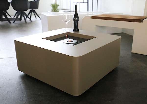 Loungetisch mit Bioethanolbrenner