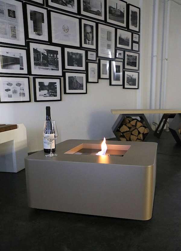 Loungetisch mit Co2 neutralem Feuer Bioethanol